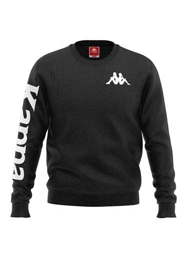 Kappa Baskılı Sw-Shirt Casın  Siyah